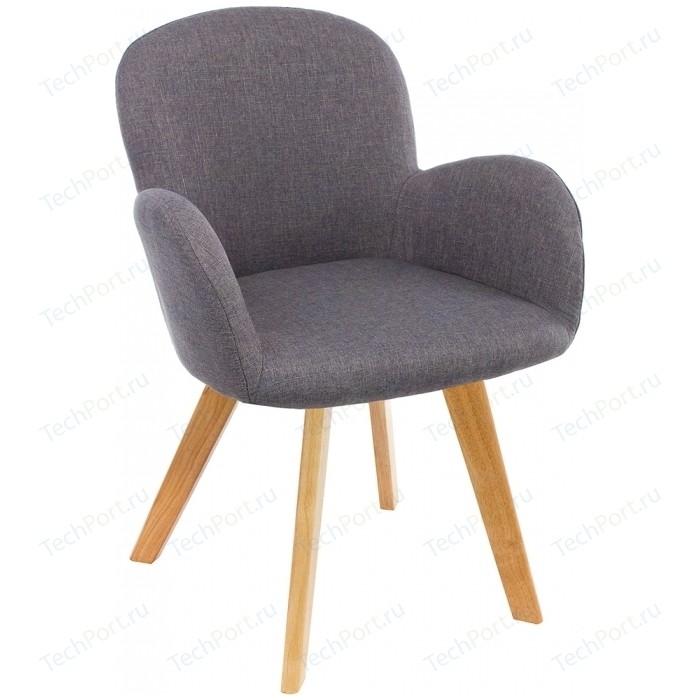 Стул Woodville Asia wooden legs/grey fabric