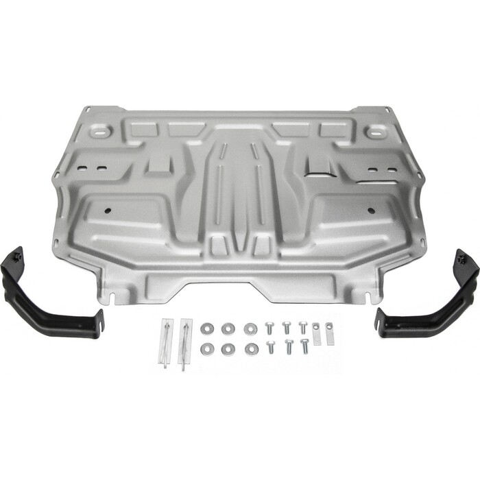 Защита картера и КПП Rival для Seat Ibiza (2008-2014) / Skoda Fabia (2007-2015) Rapid (2012-н.в.), алюминий 4 мм, 333.5842.1