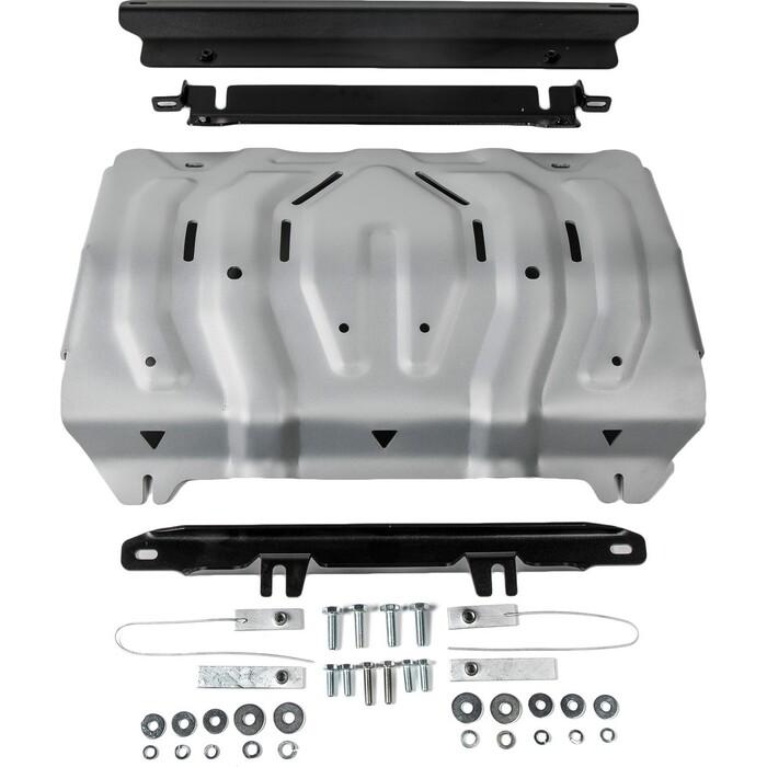 Защита радиатора Rival для Fiat Fullback / Pajero Sport (2016-н.в.) Mitsubishi L200 (2015-н.в.), алюминий 4 мм, 333.4046.2