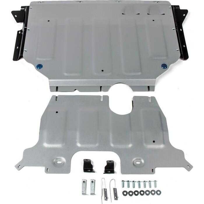 боковые подножки пороги bmw style алюминий rival d193al 5805 1 для volkswagen teramont 2017 Защита картера и КПП Rival для Volkswagen Teramont 4WD (2018-н.в.), алюминий 4 мм, 333.5861.1