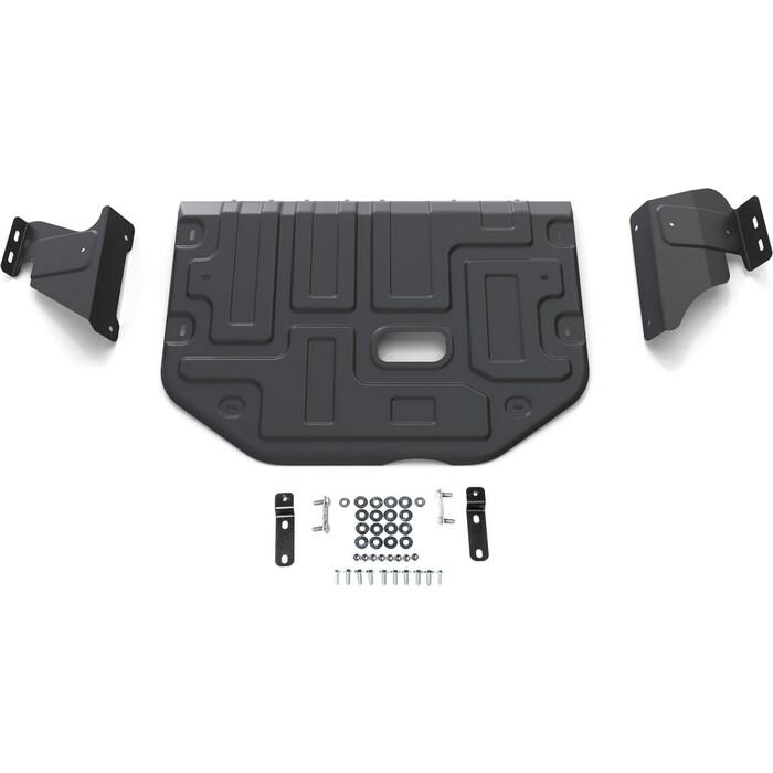 Защита картера и КПП Rival для Ford Tourneo Custom FWD (2012-2018 / 2017-н.в.) Transit IV (2014-н.в.), сталь 2 мм, с крепежом, 111.1867.1