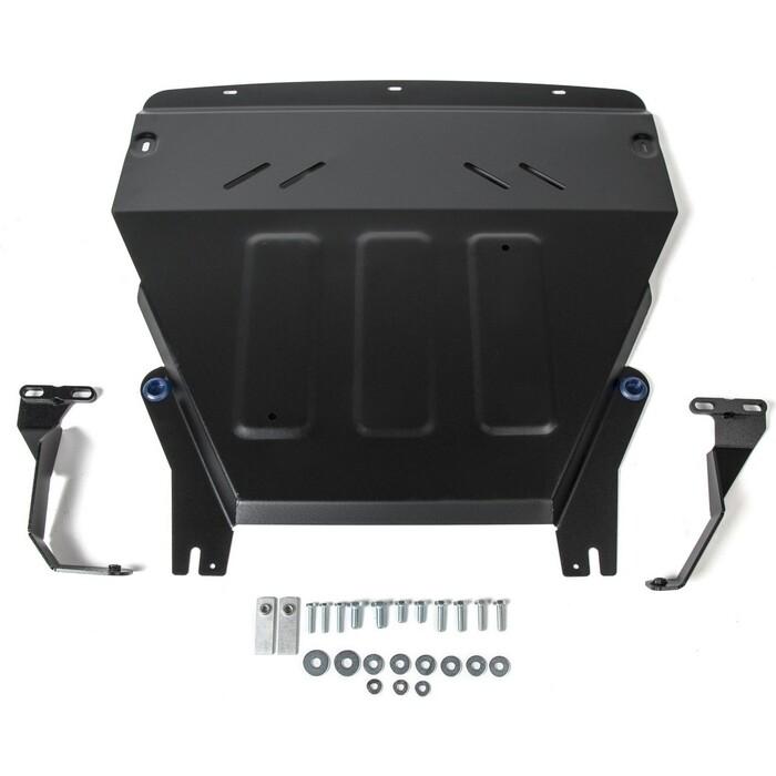 Защита картера и КПП Rival для Ford Ecosport I рестайлинг (2018-н.в.), сталь 2 мм, с крепежом, 111.1870.1