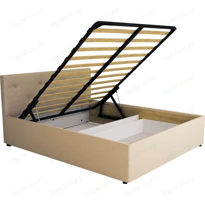 Кровать Комфорт - S Габриэль 160 (пм+ящик) манго 009/№1 (ромбы) недорого