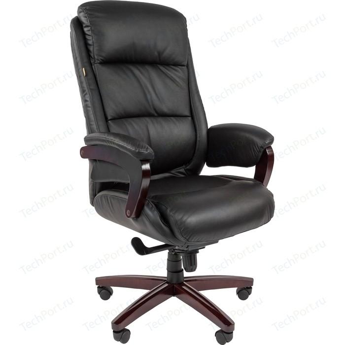 Офисноекресло Chairman СН 404 кожа + PU черное