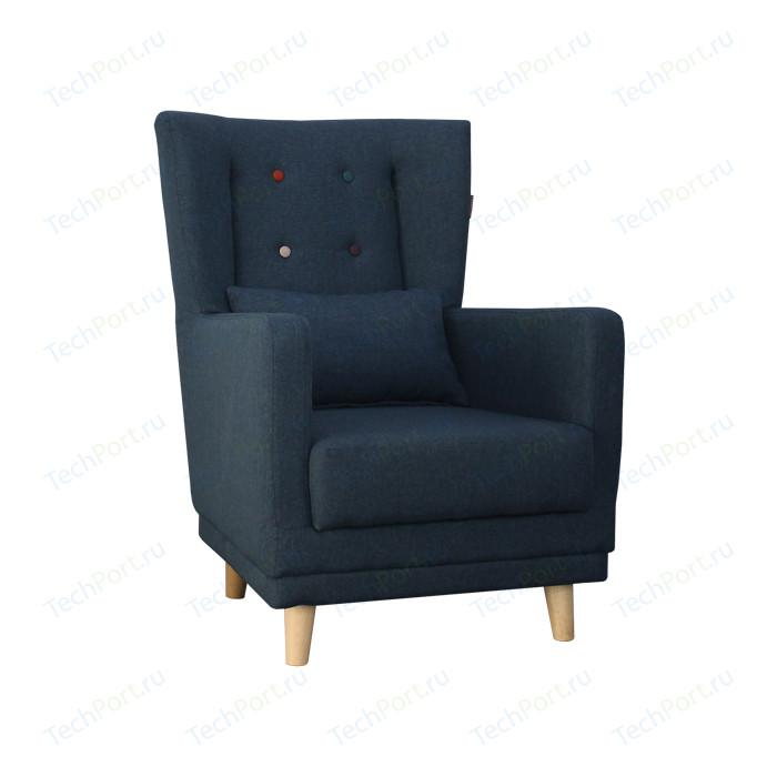 Кресло Комфорт - S Клементина темпо 7/1 категория с цветными пуговицами