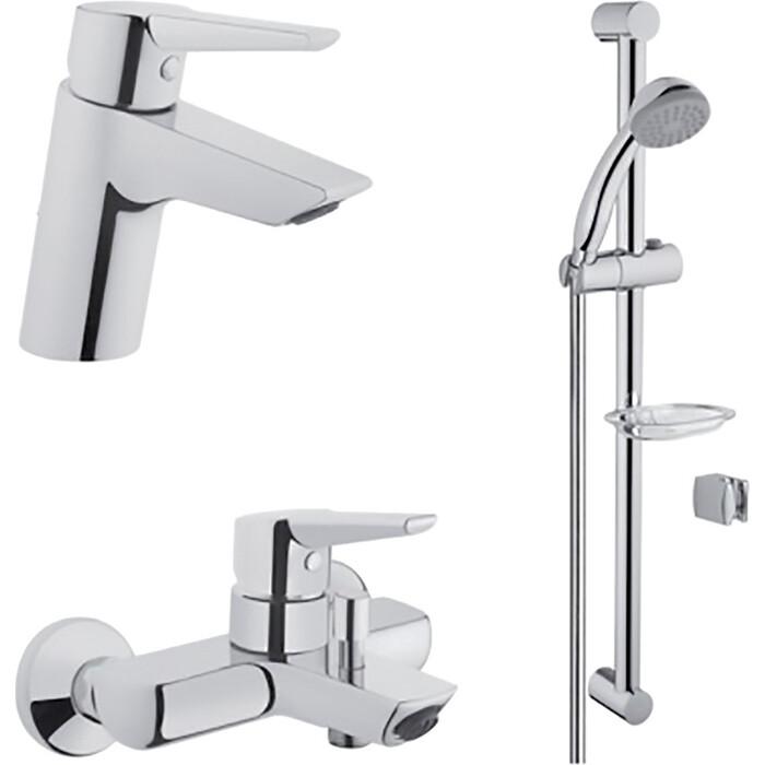 Комплект смесителей Vitra Solid S для раковины, ванны, душевой гарнитур (A49227EXP)