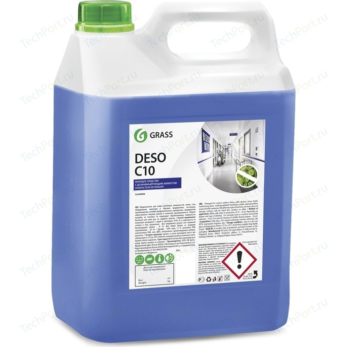 Средство дезинфицирующее GRASS Deso C10, 5 л пятновыводитель grass antigraffiti 5 л