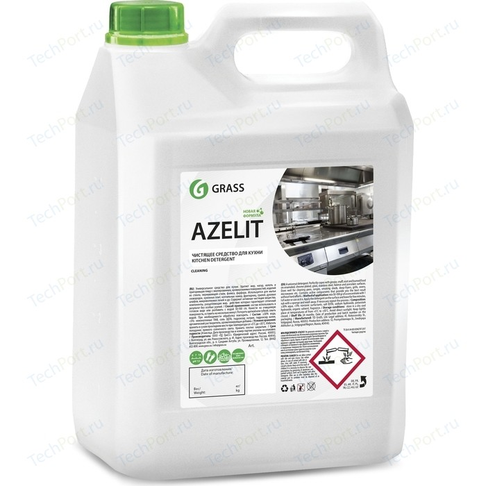 Чистящее средство GRASS для кухни Azelit (канистра), 5 л пятновыводитель grass antigraffiti 5 л