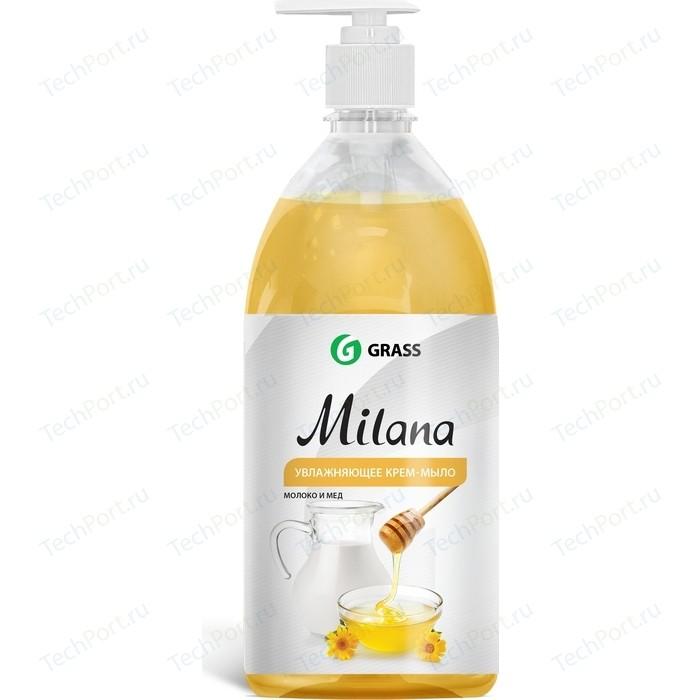 Жидкое крем-мыло GRASS Milana молоко и мед, 1л