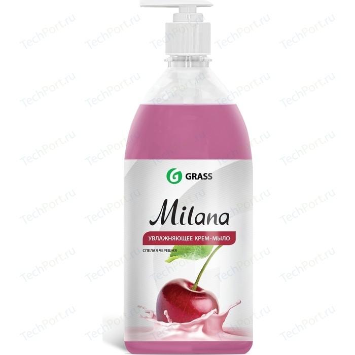 Жидкое крем-мыло GRASS Milana спелая черешня, 1л