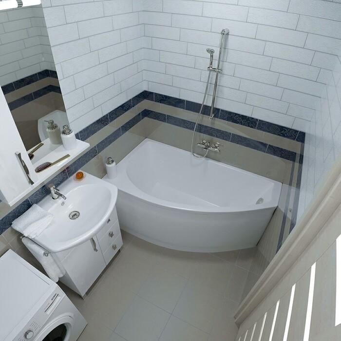 Акриловая ванна Triton Бэлла R 140x75 правая с панелью (Н0000009410, Н0000020160)