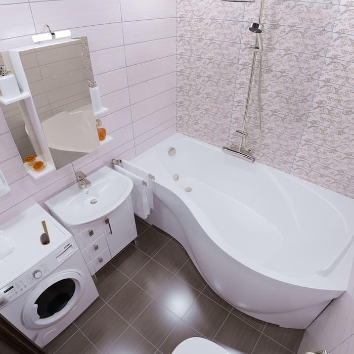 Акриловая ванна Triton Мишель L 170х95 левая, с панелью (Н0000000203, Н0000099929)