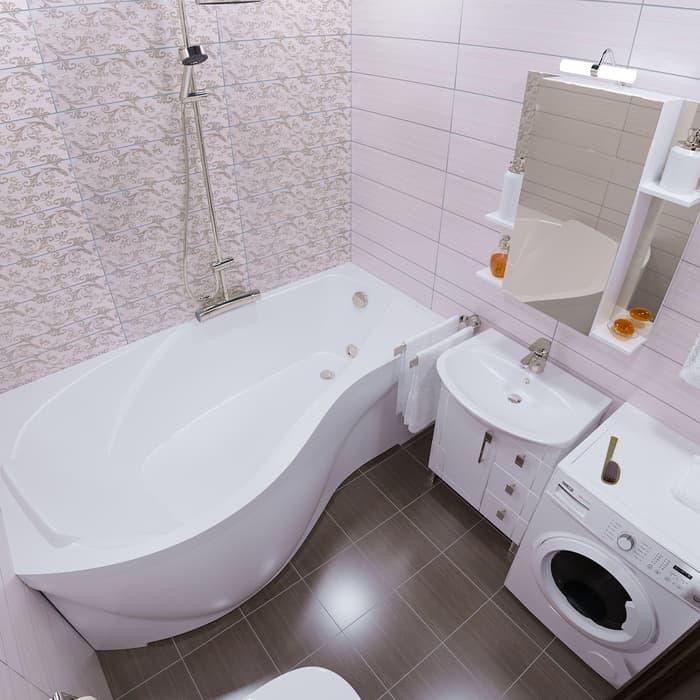 Акриловая ванна Triton Мишель R 170х95 правая, с панелью (Н0000000204, Н0000099930)