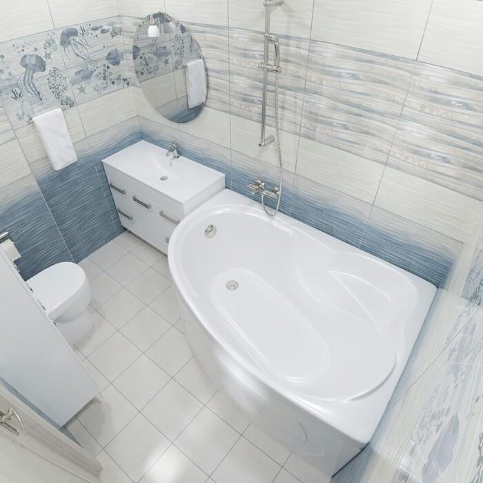 Акриловая ванна Triton Николь L 160x100 левая, с панелью (Щ0000003005, Щ0000002831)