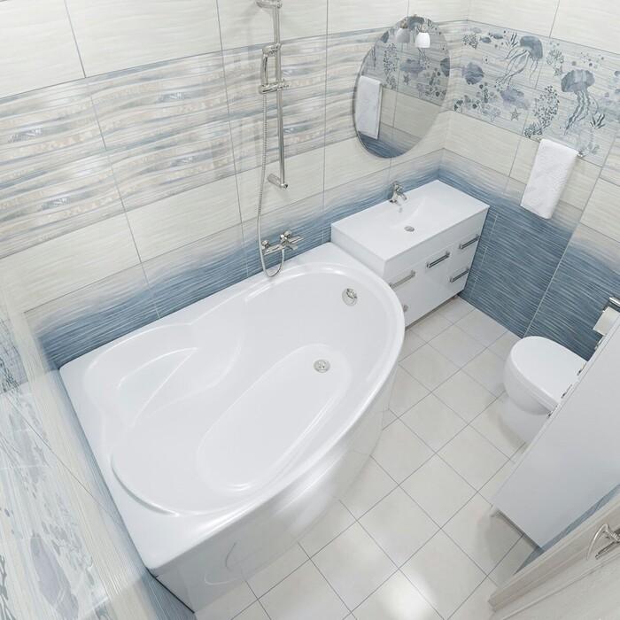 Акриловая ванна Triton Николь R 160x100 правая, с панелью (Щ0000003006, Щ0000002831)