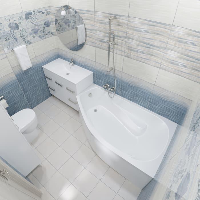 Акриловая ванна Triton Скарлет L 170х95 левая, с панелью (Н0000000215, Н0000099944)