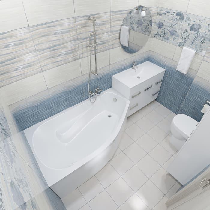 Акриловая ванна Triton Скарлет R 170х95 правая, с панелью (Н0000000216, Н0000099945)