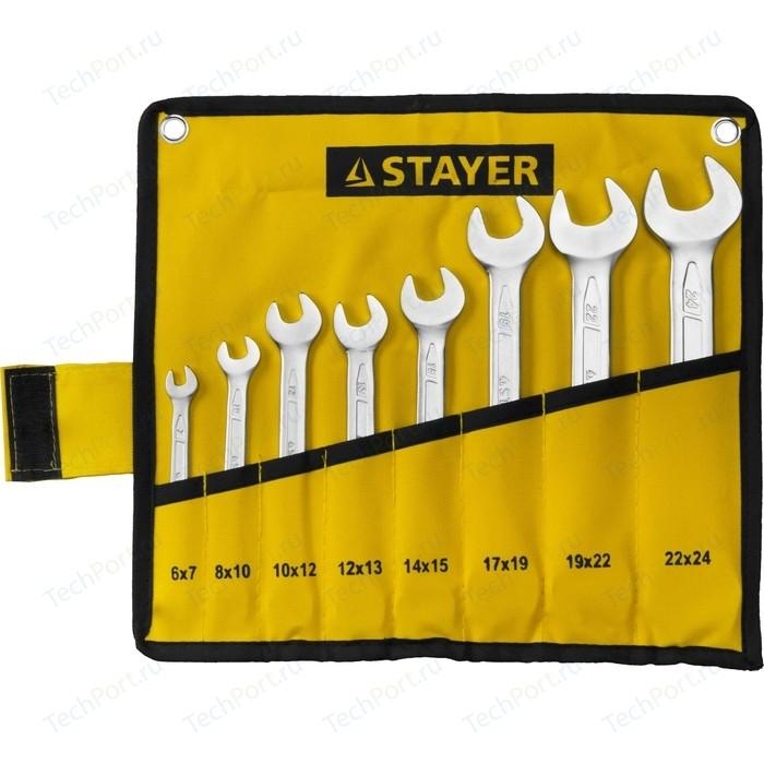 Набор ключей рожковых Stayer 8шт 6-24 мм (27035-H8)