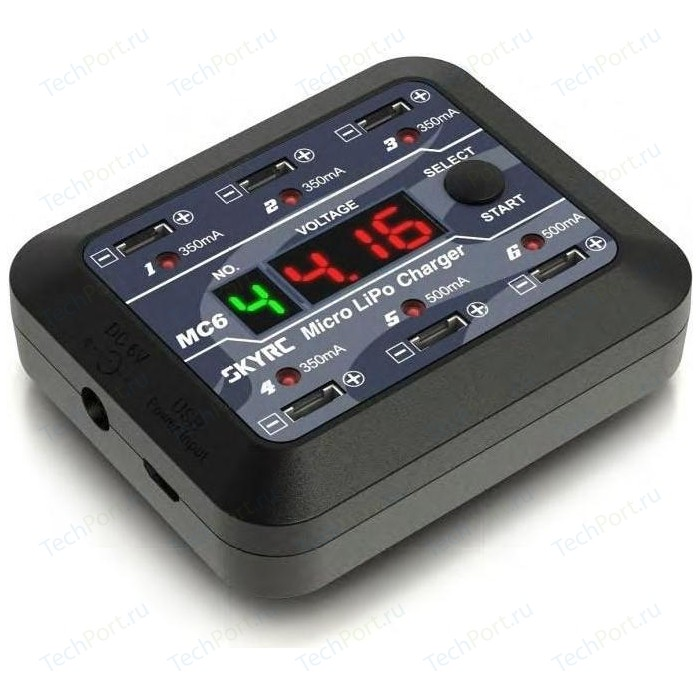 Зарядное устройство SkyRC MC6 (6V LiPo:1S 4x350mA 2x500mA) - SK-100102-01