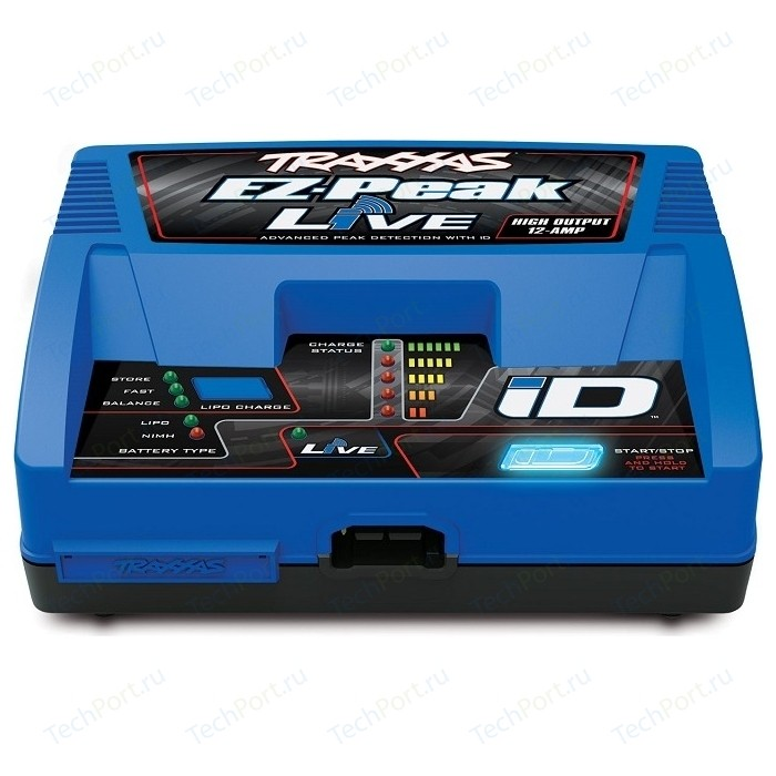 Зарядное устройство TRAXXAS EZ-Peak Live 100W NiMHLiPo Charger with iD Auto Battery Identification - TRA2971G