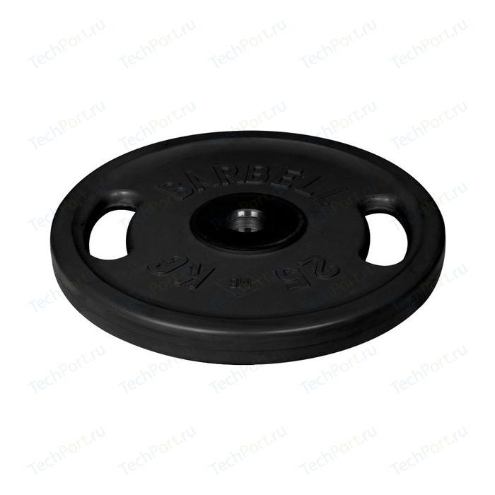 Фото - Диск олимпийский MB Barbell 51 мм. 25 кг. черный Евро-Классик с ручками диск олимпийский mb barbell 51 мм 25 кг черный евро классик