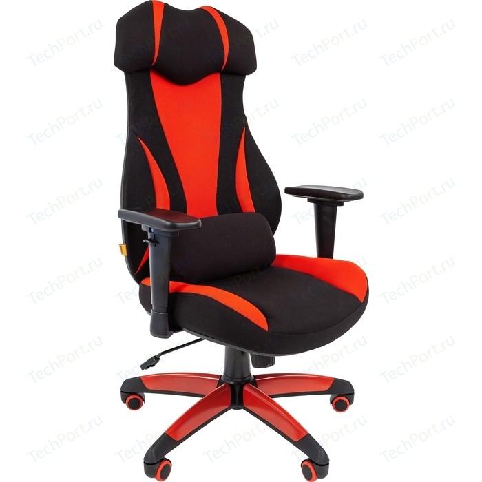 Офисноекресло Chairman game 14 ткань черный/красный