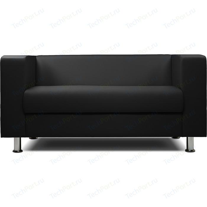 Диван офисный Шарм-Дизайн Бит экокожа черный