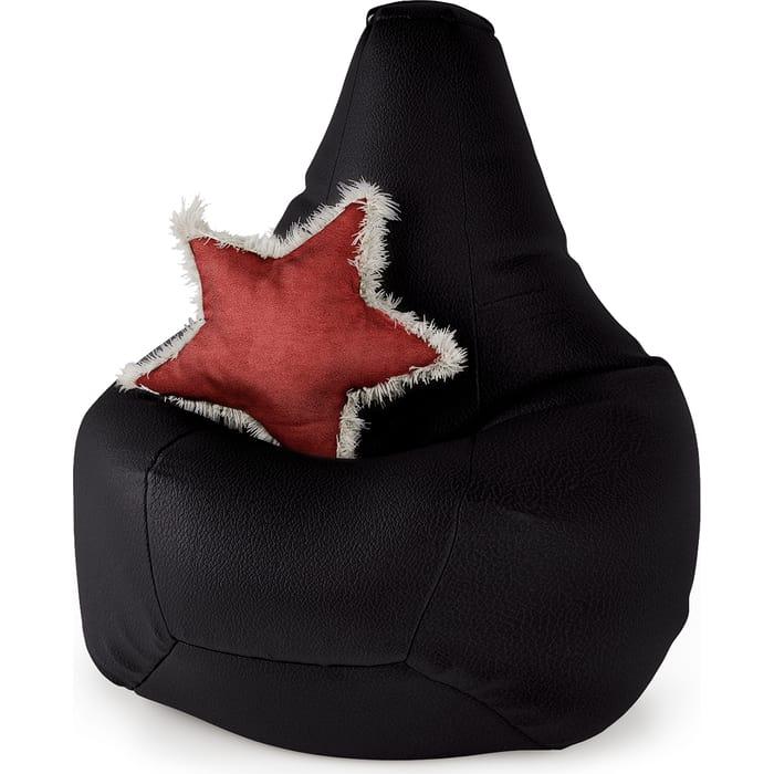 Кресло Шарм-Дизайн Груша экокожа черный