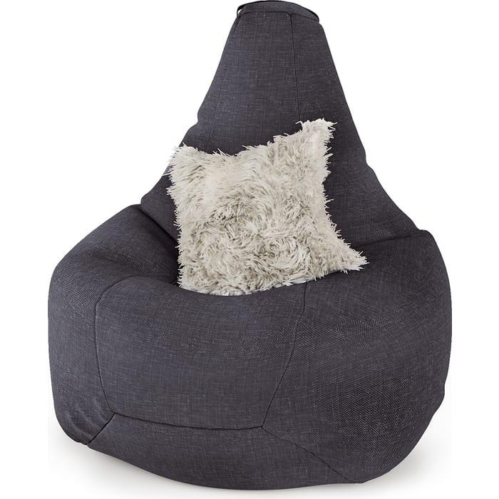 Кресло Шарм-Дизайн Груша рогожка серый