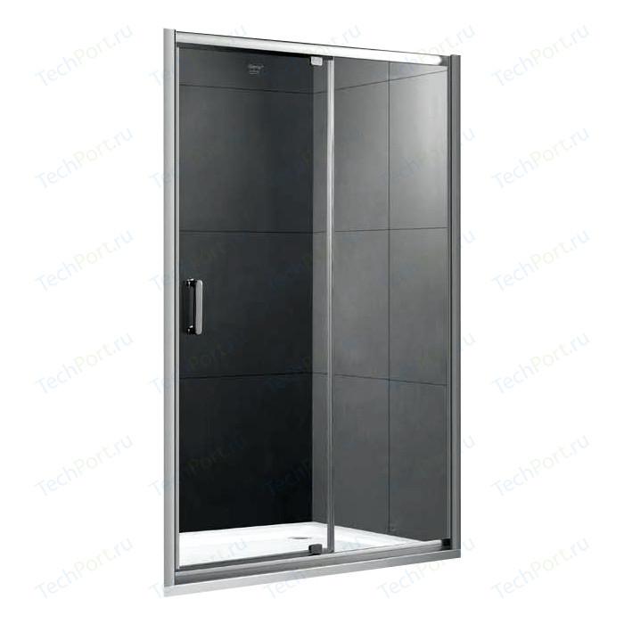 Душевая дверь Gemy Sunny Bay 100 прозрачная, хром (S28191A)