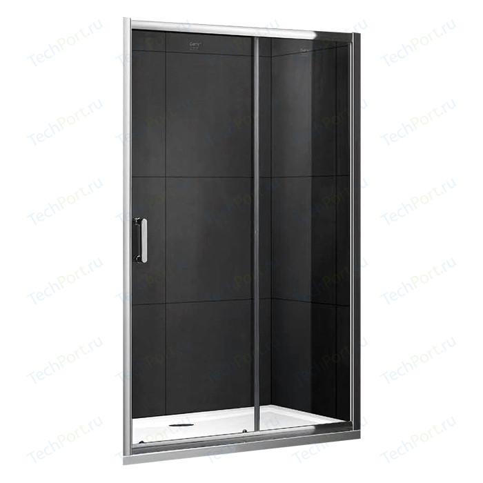 Душевая дверь Gemy Victoria 120 прозрачная, хром (S30191A)