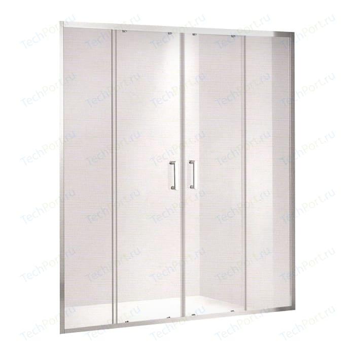 Душевая дверь Gemy Victoria 140 прозрачная, хром (S30192E)