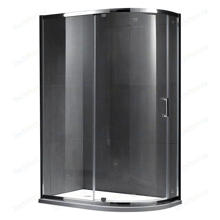 Душевой уголок Gemy Sunny Bay 100x90 прозрачный, хром (S28192)