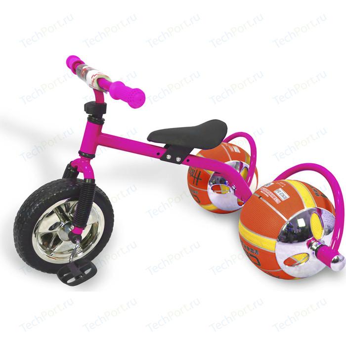 Велосипед трехколёсный Bradex с колесами в виде мячей БАСКЕТБАЙК розовый