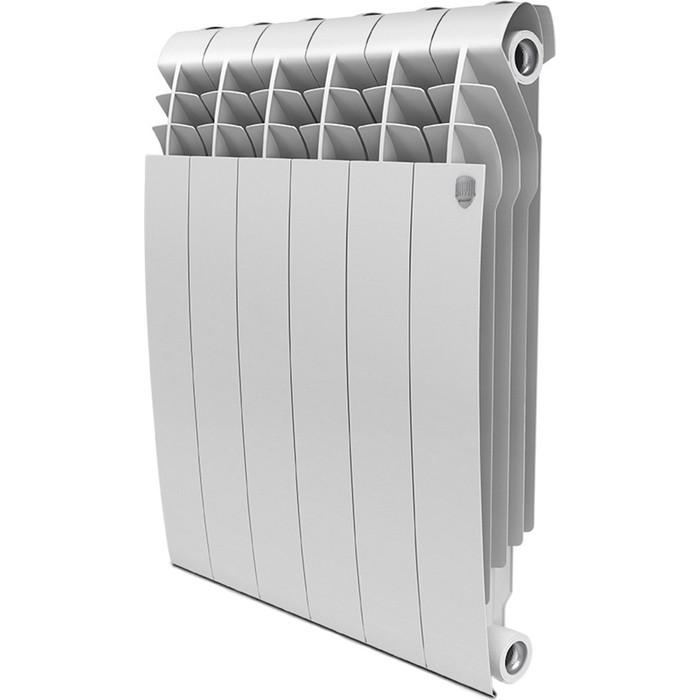Радиатор алюминиевый ROYAL Thermo алюминиевый Biliner Alum 500 6 секций биметаллический радиатор rifar рифар b 500 нп 10 сек лев кол во секций 10 мощность вт 2040 подключение левое