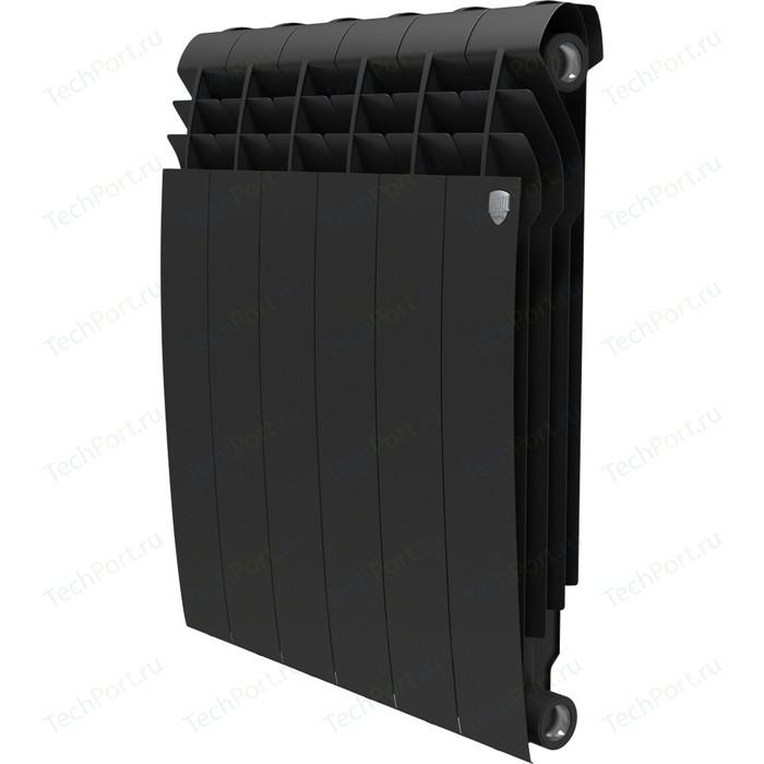Радиатор отопления ROYAL Thermo биметаллический BiLiner 500 new Noir Sable 6 секций