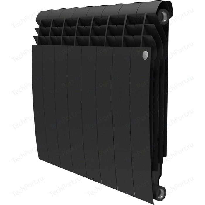 Радиатор отопления ROYAL Thermo биметаллический BiLiner 500 new Noir Sable 8 секций радиатор отопления royal thermo биметаллический biliner 500 new noir sable 8 секций