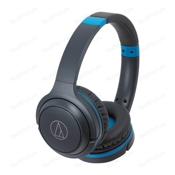Наушники Audio-Technica ATH-S200BT grey/blue наушники audio technica ath ckl220 blue
