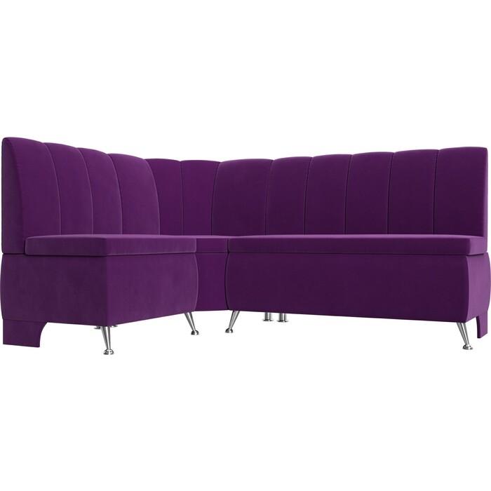 Кухонный уголок АртМебель Кантри вельвет фиолетовый левый угол