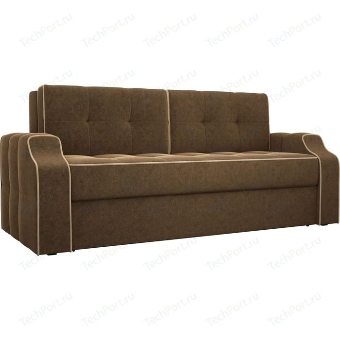 Диван еврокнижка АртМебель Манчестер вельвет коричневый диван еврокнижка артмебель манчестер рогожка серый окантовка коричневый