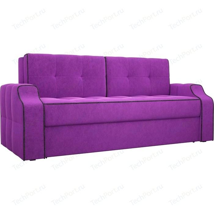 Диван еврокнижка Лига Диванов Манчестер вельвет фиолетовый
