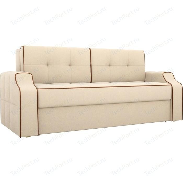 Диван еврокнижка АртМебель Манчестер рогожка бежевый диван еврокнижка артмебель манчестер рогожка серый окантовка коричневый