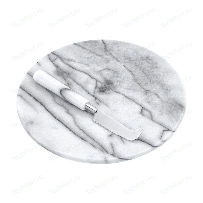 Доска с ножом для нарезки сыра d 26 см Judge Marble (H373)