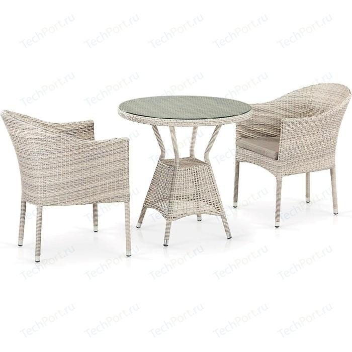 Комплект плетеной мебели из искусственного ротанга Afina garden T705ANT/Y350-W85 2Pcs latte