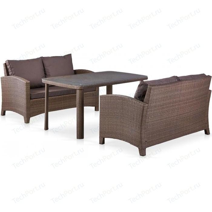 цена на Комплект плетеной мебели из искусственного ротанга Afina garden T51A/S58A-W773 brown