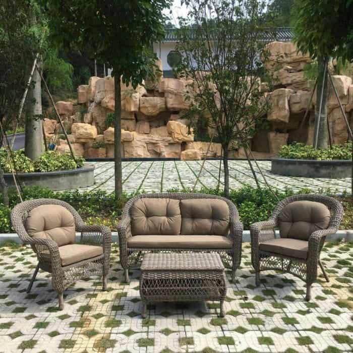 Комплект мебели из искусственного ротанга Afina garden LV520BB beige/beige недорого