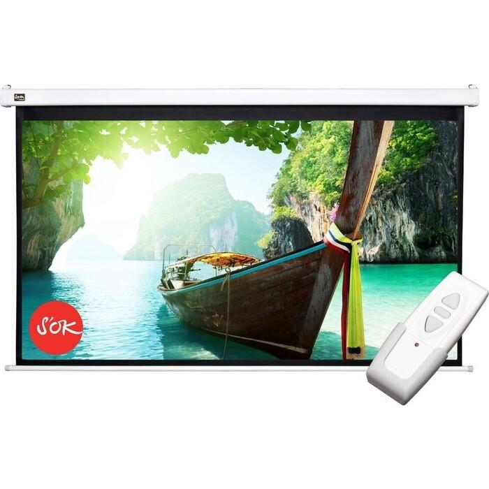 Фото - Экран для проектора Sakura Pro 186x105 Motoscreen 16:9 84'' фибергласс (SCPSM-186x105FG) экран для проектора sakura 183x183 motoscreen 1 1 102 gray scpsm 183x183 gr