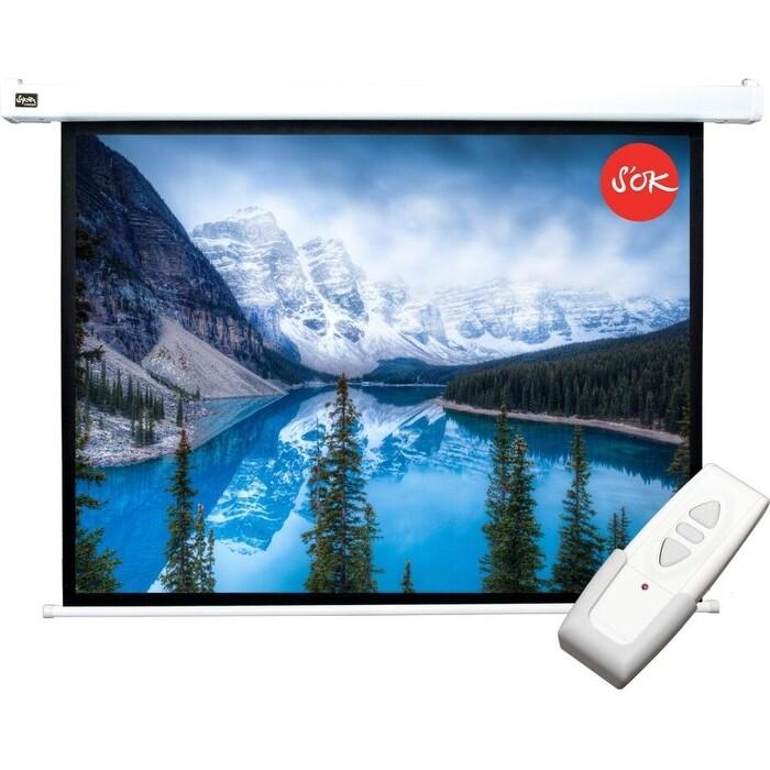 Фото - Экран для проектора Sakura Pro 200x150 Motoscreen 4:3 100'' фибергласс (SCPSM-200x150FG) экран для проектора sakura 183x183 motoscreen 1 1 102 gray scpsm 183x183 gr