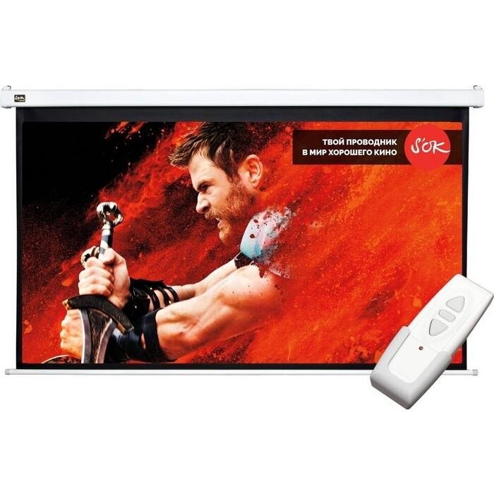 Фото - Экран для проектора Sakura Pro 236x133 Motoscreen 16:9 107'' фибергласс (SCPSM-236x133FG) экран для проектора sakura 183x183 motoscreen 1 1 102 gray scpsm 183x183 gr