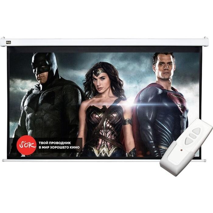Фото - Экран для проектора Sakura Pro 250x140 Motoscreen 16:9 113'' фибергласс (SCPSM-250x140FG) экран для проектора sakura 183x183 motoscreen 1 1 102 gray scpsm 183x183 gr